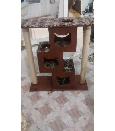 Mini Torre para gatos com Arranhador duplo